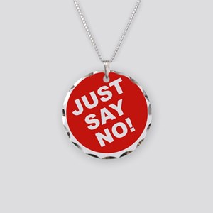 JUST-SAY-NO Necklace Circle Charm