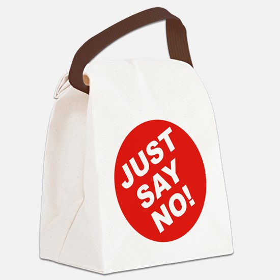 JUST-SAY-NO Canvas Lunch Bag