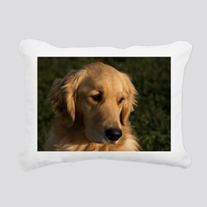 (2) golden retriever hea Rectangular Canvas Pillow