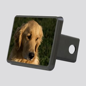 (2) golden retriever head  Rectangular Hitch Cover