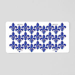 FleurMosaicGlaquaB3hz Aluminum License Plate