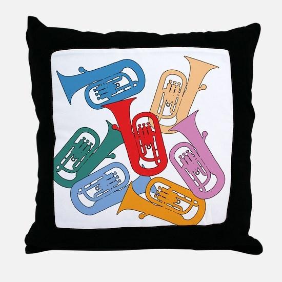Colorful Euphoniums - Throw Pillow