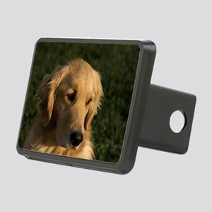(10) golden retriever head Rectangular Hitch Cover