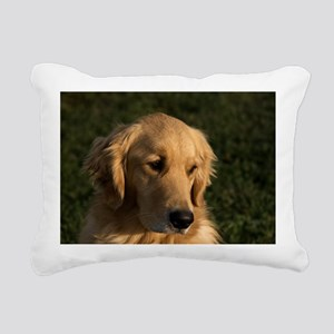 (10) golden retriever he Rectangular Canvas Pillow