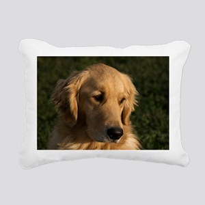 (6) golden retriever hea Rectangular Canvas Pillow