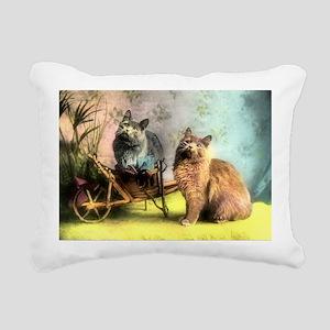 cute cats Rectangular Canvas Pillow