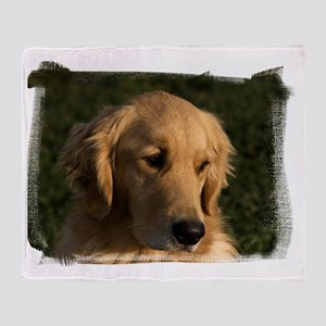 (16) golden retriever head shot Throw Blanket