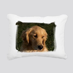 (16) golden retriever he Rectangular Canvas Pillow