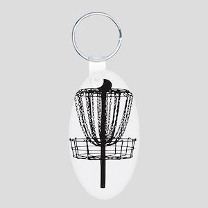 DG Basket Aluminum Oval Keychain