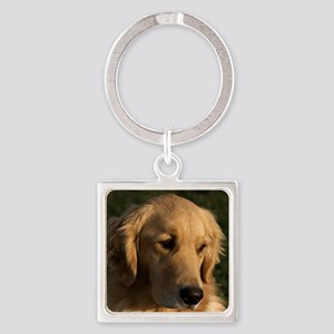 (15s) golden retriever head shot Square Keychain