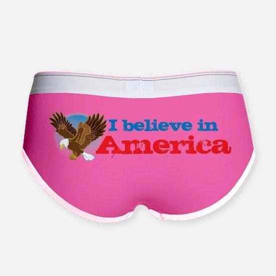 I believe in America Women's Boy Brief