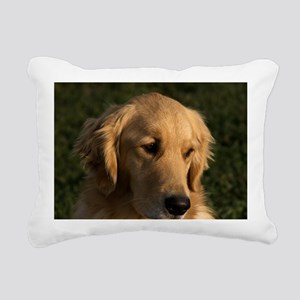 (14) golden retriever he Rectangular Canvas Pillow
