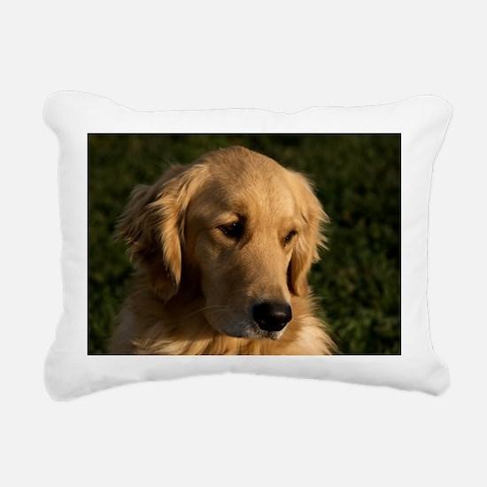 (12) golden retriever he Rectangular Canvas Pillow