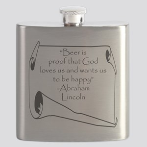 BEER IS PROOF THAT GOD LOVES US Flask