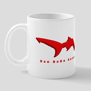 Scuba Shark DDALOGORED 4.5x10 4BLKCLR Mug