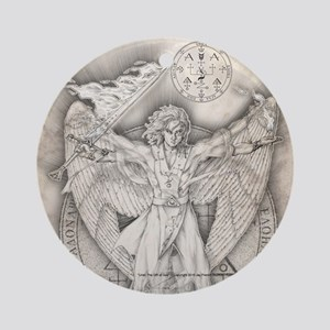 UrielSquare Round Ornament