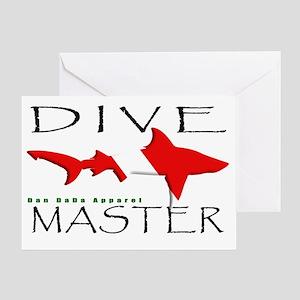DIVE MASTER SHARK 6.5x10 4BLKCLR Greeting Card