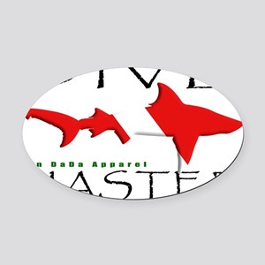 DIVE MASTER SHARK 6.5x10 4BLKCLR Oval Car Magnet