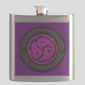 slavegirl sq purple glass Flask