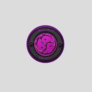 slavegirl sq purple glass Mini Button