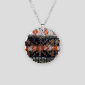 fair isle 1 Necklace Circle Charm