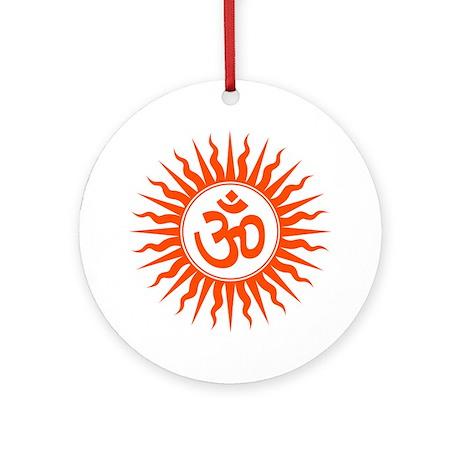 Spiritual Om Design Round Ornament