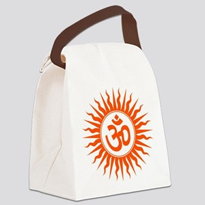 Spiritual Om Design Canvas Lunch Bag