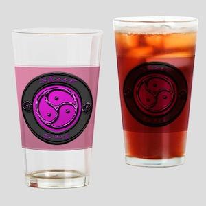 slavegirl sq pink glass Drinking Glass