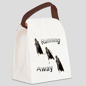 Running away skeleton Canvas Lunch Bag