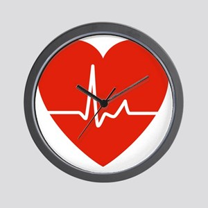 HeartBeatsRed Wall Clock