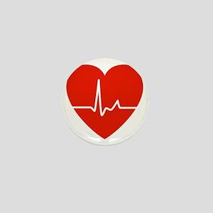 HeartBeatsRed Mini Button