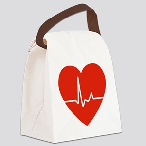 HeartBeatsRed Canvas Lunch Bag