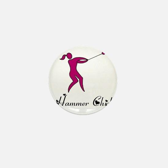 Hammer Chick Mini Button