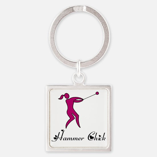 Hammer Chick Square Keychain