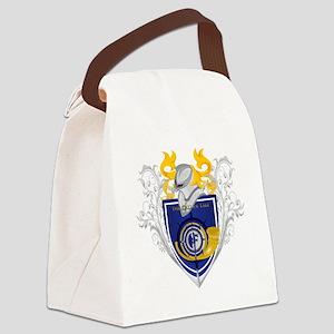 Crest-10x10 Canvas Lunch Bag