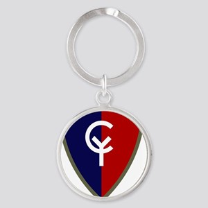 38th Infantry Division Round Keychain