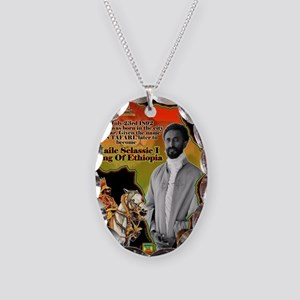 selassie africa Necklace Oval Charm