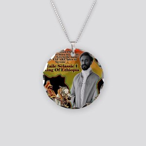 selassie africa Necklace Circle Charm
