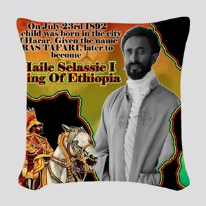 selassie africa Woven Throw Pillow