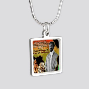 selassie africa Silver Square Necklace