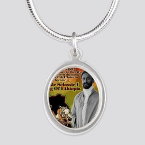 selassie africa Silver Oval Necklace