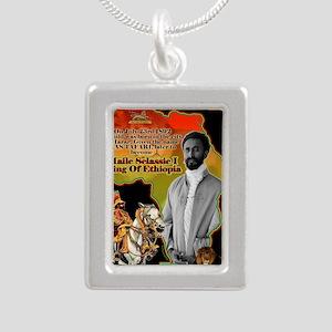 selassie africa Silver Portrait Necklace