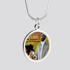 selassie africa Silver Round Necklace