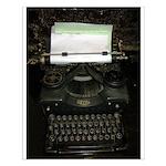 VIntage Typewriter Poster Design