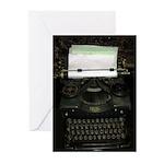 VIntage Typewriter Greeting Cards