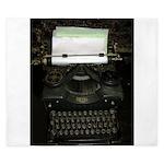 VIntage Typewriter King Duvet