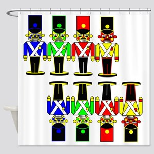 8 Nut Crackers Shower Curtain