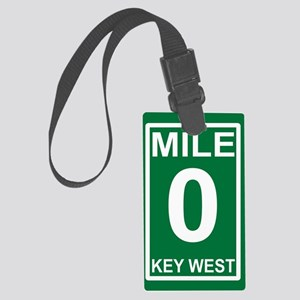 5-milezerorectanglesticker Large Luggage Tag