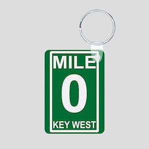 5-milezerorectanglesticker Aluminum Photo Keychain