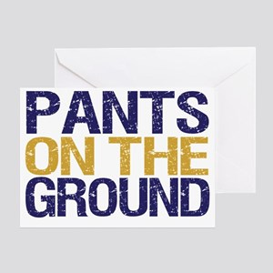 pants on the ground only Greeting Card